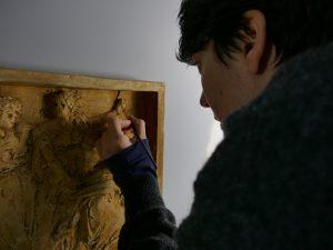 traitement conservation restauration retouches aquarelle sculpture plâtre patine Lanson musée beaux arts Orléans