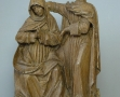 Musée Dobrée-bois polychromés Vierge et St Jean (1)